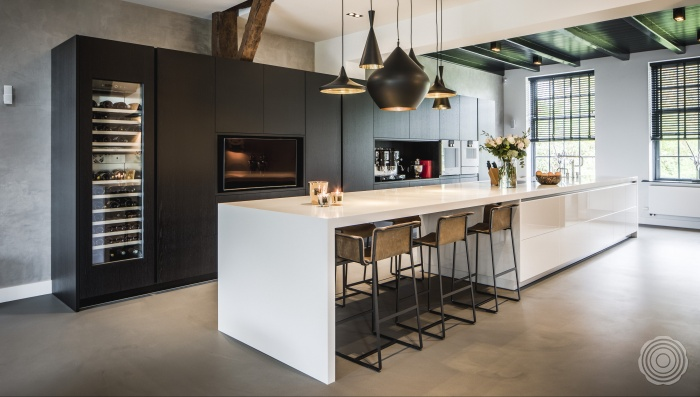 tight design in the kitchen create more unity in your home w